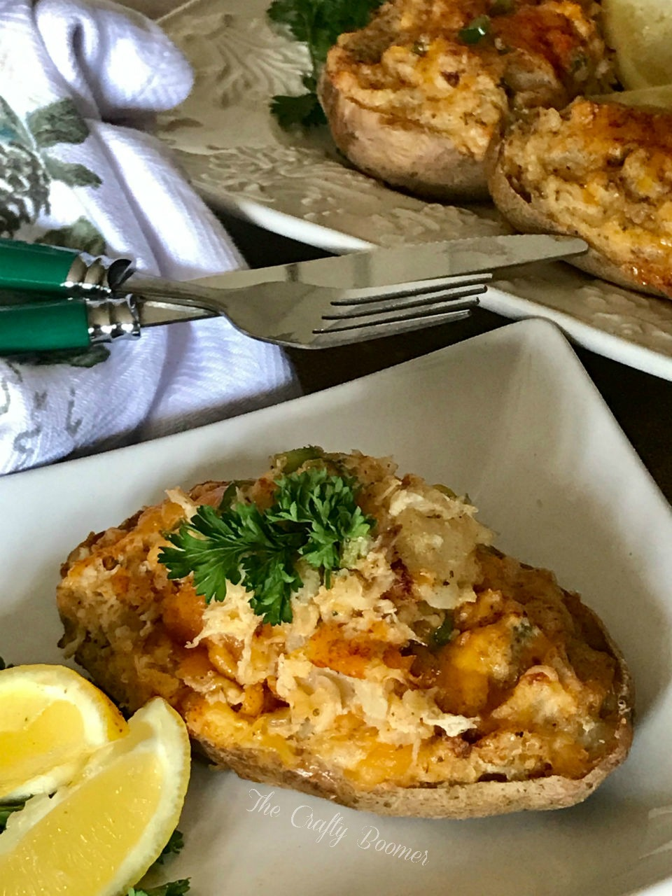 Crab Imperial Stuffed Potatoes The Crafty Boomer